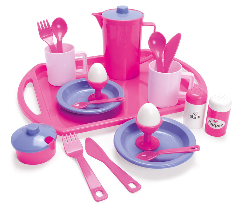 Dantoy For My Little Princess Breakfast Set on Tray in net – 23 pcs.