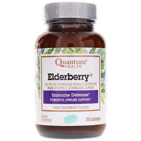Quantum Health Elderberry+ Lozenges, 36 count