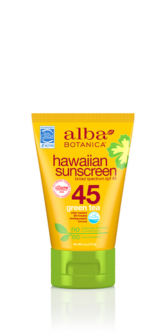 Alba Botanicals Hawaiian Snscreen Green Tea SPF 45