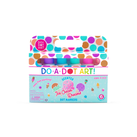Do-A-Dot Art Ice Cream Dreams 6 Pack Scented Dot Markers