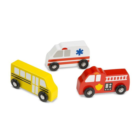 Melissa and Doug Wooden Town Vehicles Set