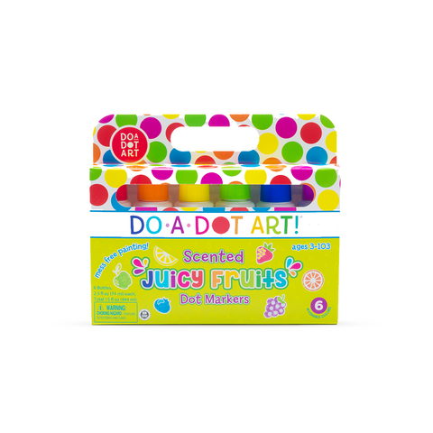 Do-A-Dot Art Juicy Fruits Scented 6 Pack Dot Markers