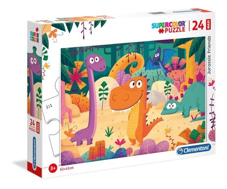 Clementoni Jurassic friends - 24 pcs - Supercolor Puzzle