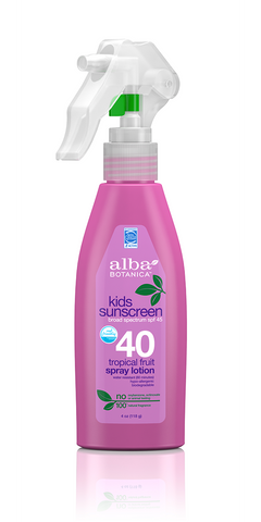 Alba Botanicals Kids Sunscreen Spray Lotion SPF 40