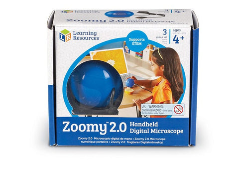 Learning Resources Zoomy 2.0 Handheld Digital Microscope (Blue)