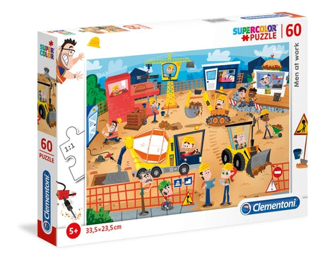 Clementoni Men at work - 60 pcs - Supercolor Puzzle