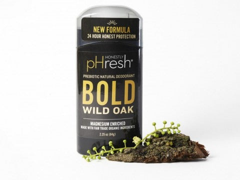 Honestly pHresh Bold Wild Oak Prebiotic Natural Deodorant
