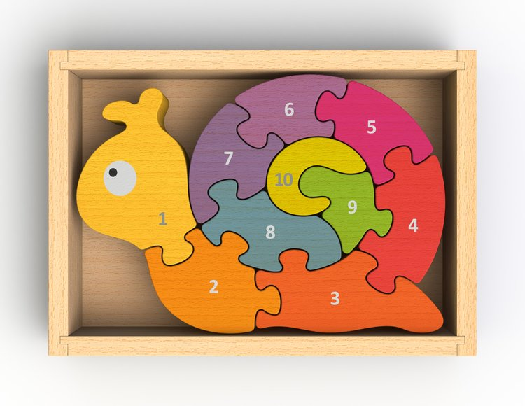 Begin Again Number Snail Learning Toy