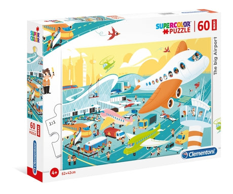 Clementoni The Big Airport - 60 pcs - Supercolor Puzzle