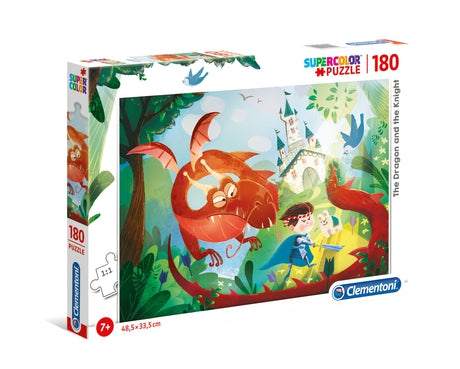 Clementoni The Dragon and The Knight - 180 pcs - Supercolor Puzzle