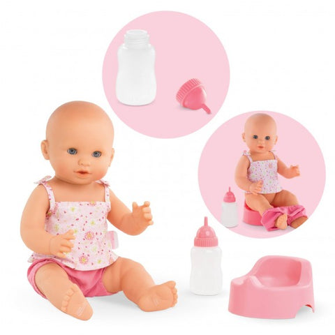 Corolle Emma Drink-and-Wet Bath Baby Doll