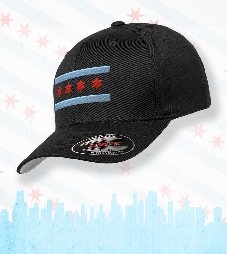 OFFICIAL CITY OF CHICAGO FLAG HATS