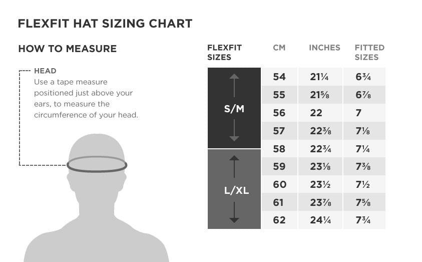 Flexfit Hat Sizing Chart – Official Flag Hat