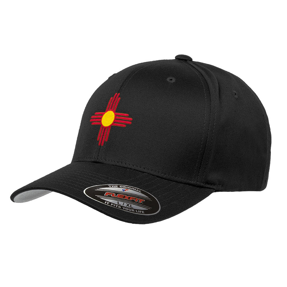 New Mexico State Flag Flexfit Premium Classic Yupoong Wooly Combed Hat 6277