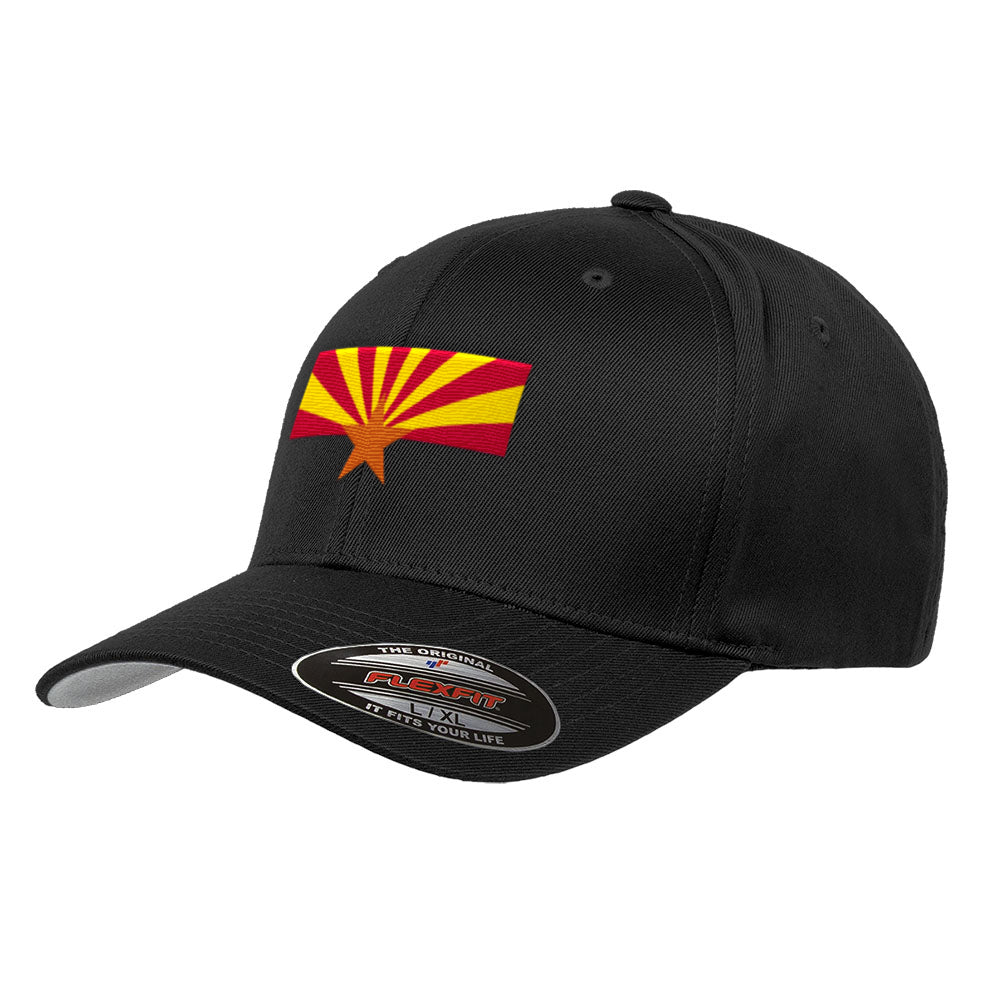 Official Arizona State Flag Hat Flexfit Premium Classic Yupoong Wooly Combed Hat 6277