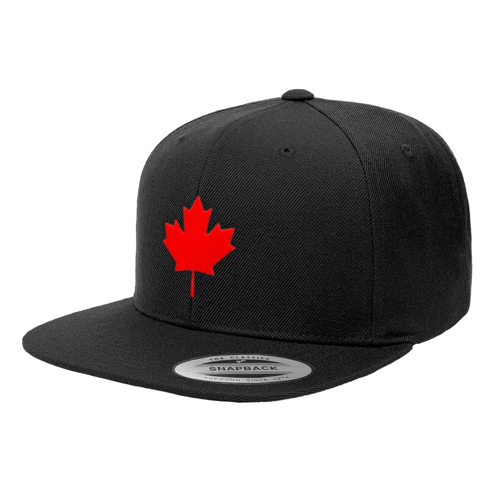 Canada Maple Leaf Flag Premium Snapback Canadian Hat 6089M
