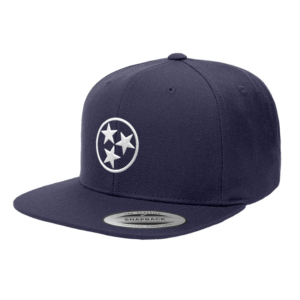 Nashville Tennessee State White Flag Snapback Hat 6089M