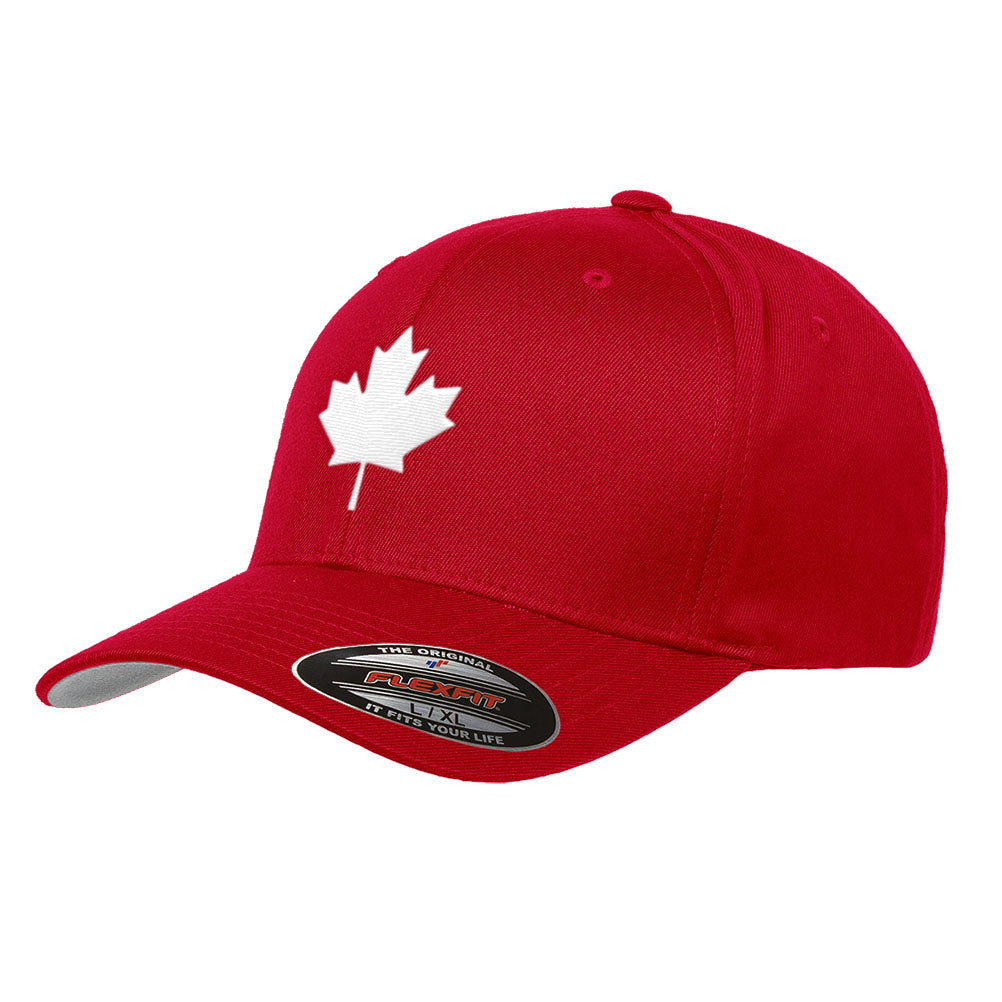 Canada Maple Leaf Flag Hat Flexfit Premium Classic Yupoong Wooly Combed Canadian  Hat 6277 3d356011c74