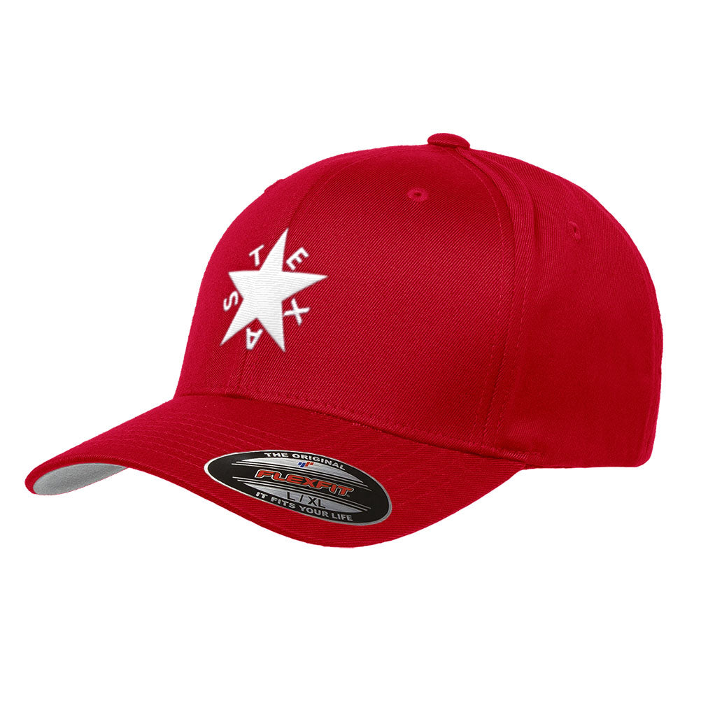 Republic of Texas State Flag Flexfit Premium Classic Yupoong Wooly Combed Hat 6277