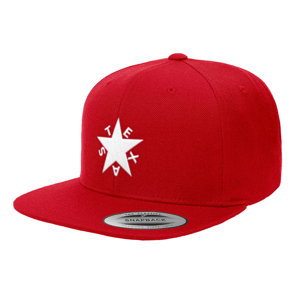 Republic of Texas State Flag Premium Classic Snapback Hat Zavala Star 6089M