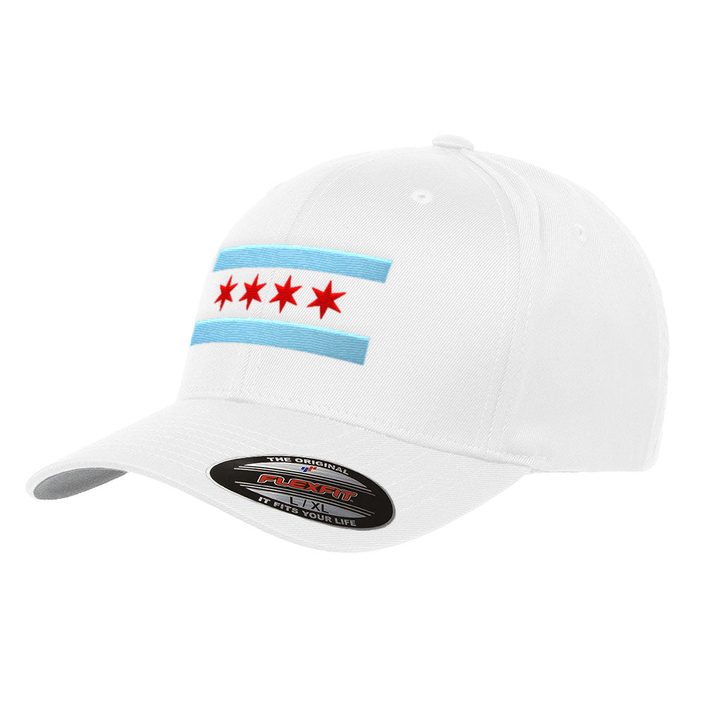 Chicago Flag Flexfit Hat Fitted Premium Illinois Cap 6277