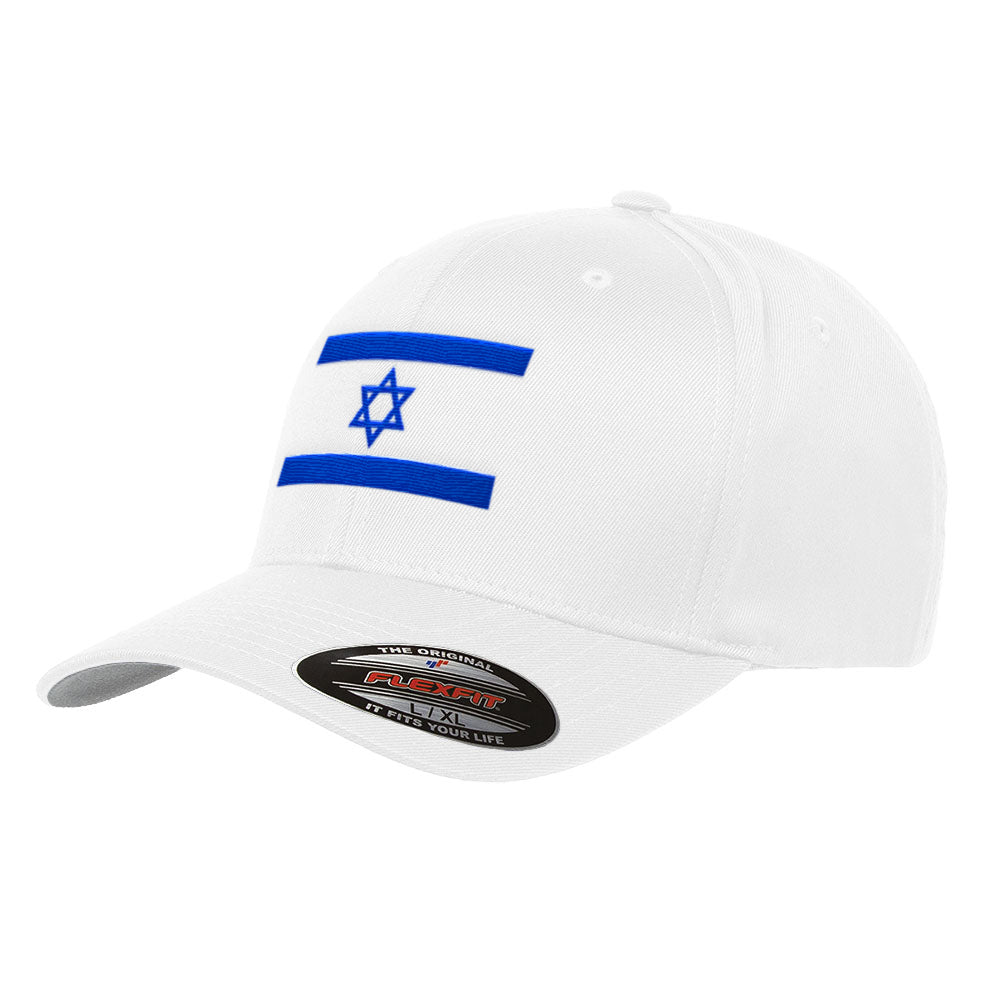 85cf53f1371 Flag of Israel Flexfit Premium Star of David Hat 6277. Flag of Israel  Flexfit Premium Star of David Hat 6277