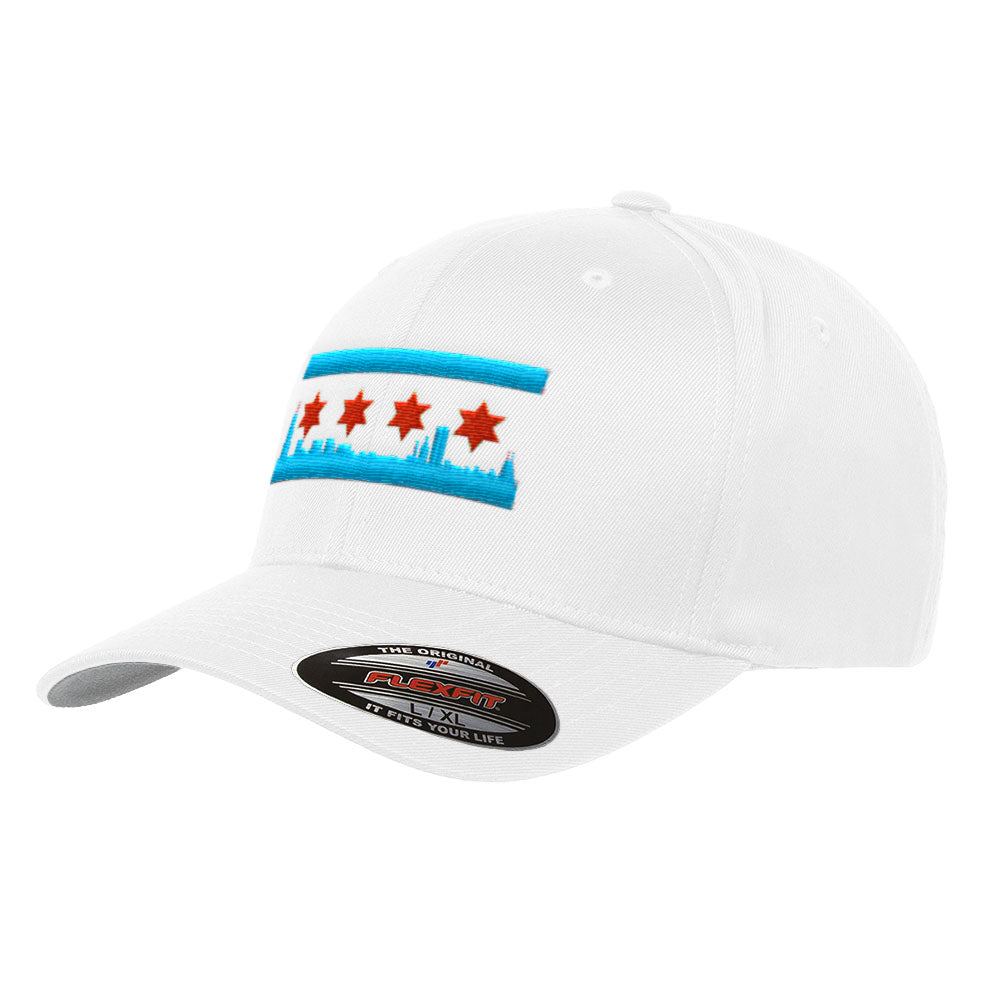 554c614e54c Chicago Skyline Flag Flexfit Premium Classic Yupoong Wooly Combed Hat – Official  Flag Hat