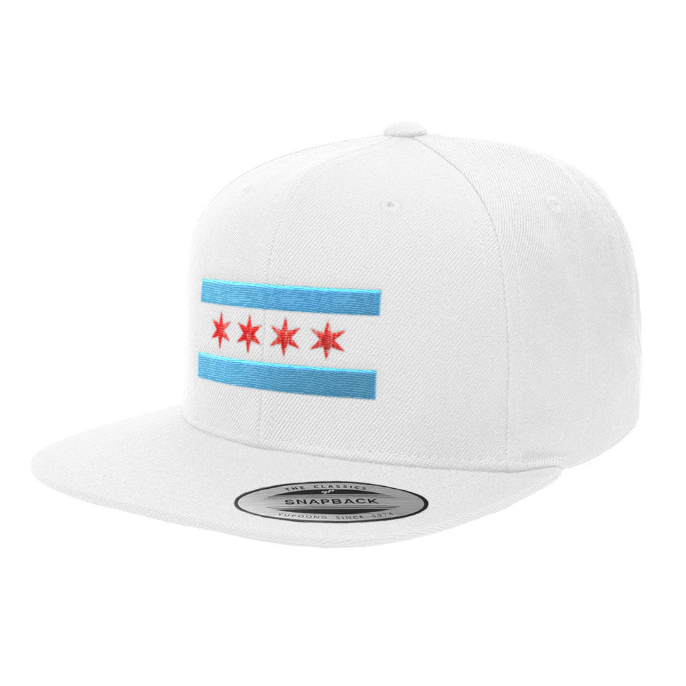 Chicago Flag Premium Snapback Hat 6089M