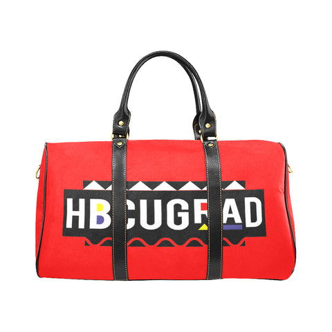 HBCUGRAD Martin Red Travel Bag