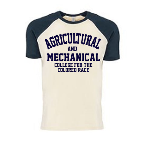 Historically Black | A&M College | Raglan Tee - Navy