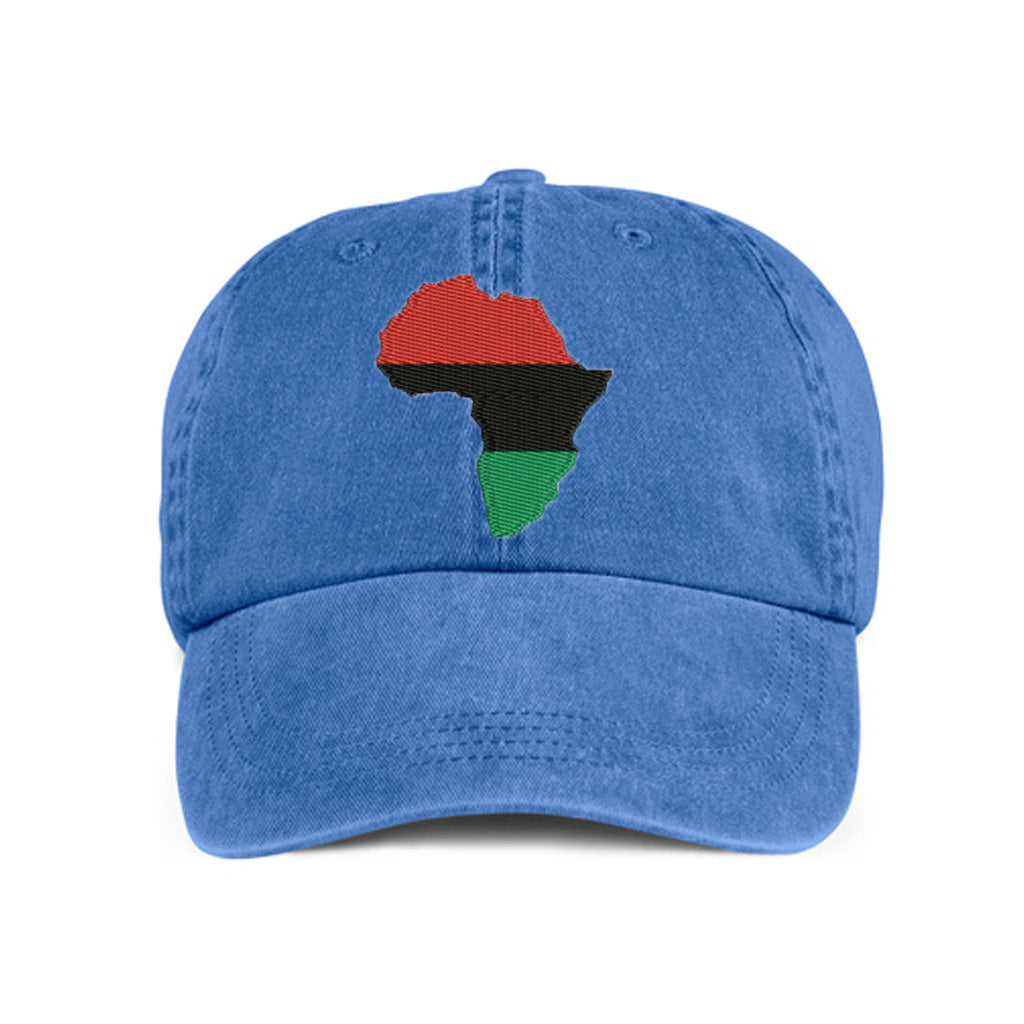 Historically Black | Large Continent | Ball Cap - Denim