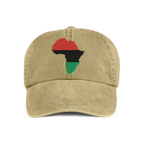 Historically Black | Large Continent | Ball Cap - Khaki