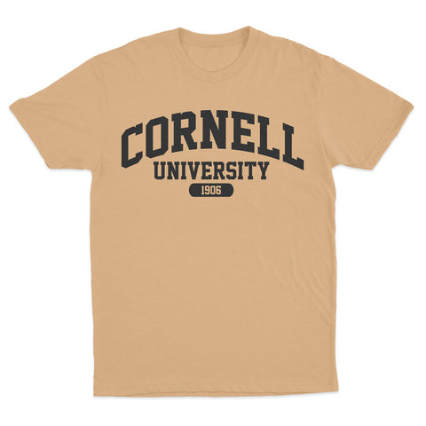 Urban Argyle | Cornell 1906 | Tshirt - Old Gold