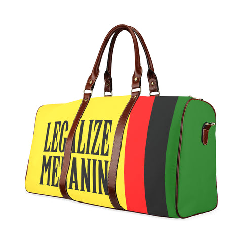 Legalize Melanin Brown Leather Travel Bag
