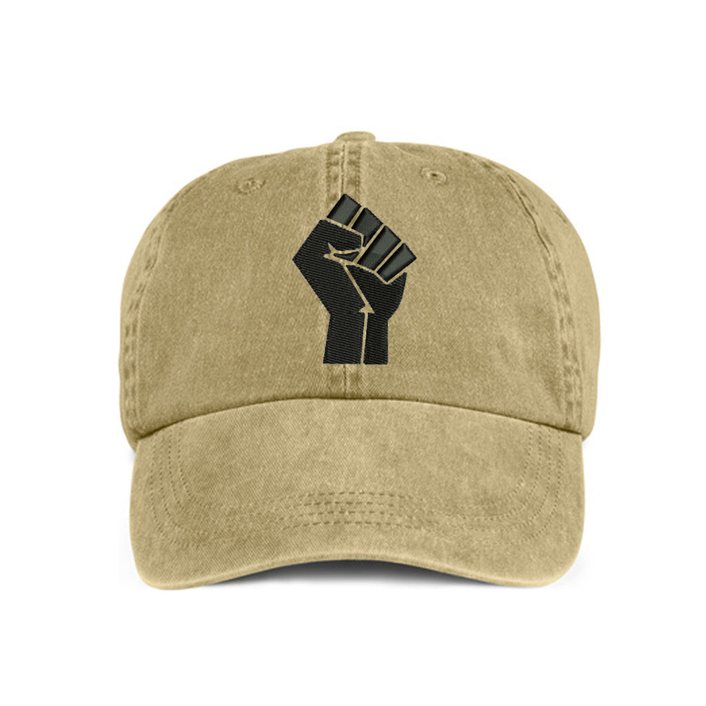 Historically Black | Power Fist | Ball Cap - Khaki
