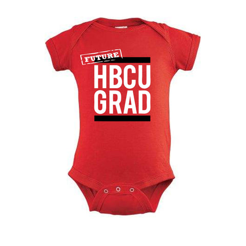 Future HBCUGRAD | Classic Red Future | Onesie - Red