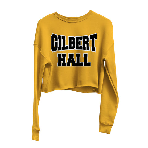 Nostalgia Series | Gilbert Hall | Crop Sweatshirt - Gold