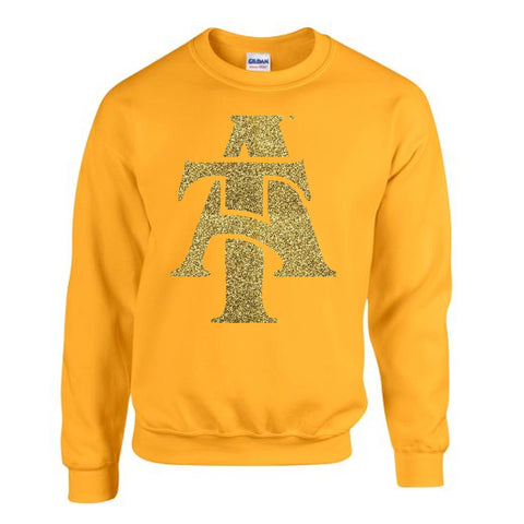 HBCU | Gold Glitter Flake | Sweatshirt - Gold