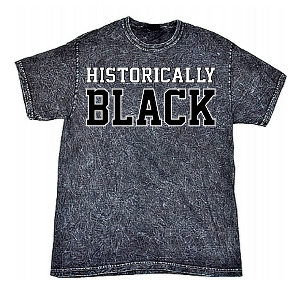 Historically Black Mineral Washed Tee - Black