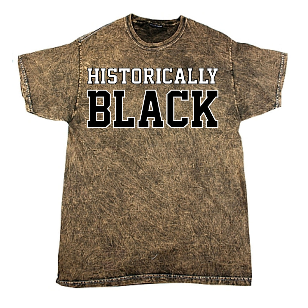 Historically Black Mineral Washed Tee - Brown