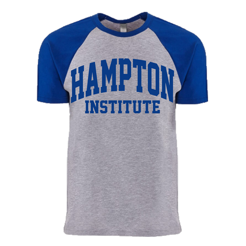 Historically Black | Hampton Institute | Raglan Tee - Blue/Gray