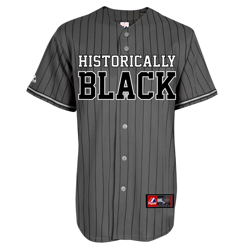 HBCU | Historically Black | Baseball Jersey - Charcoal Pinstripe