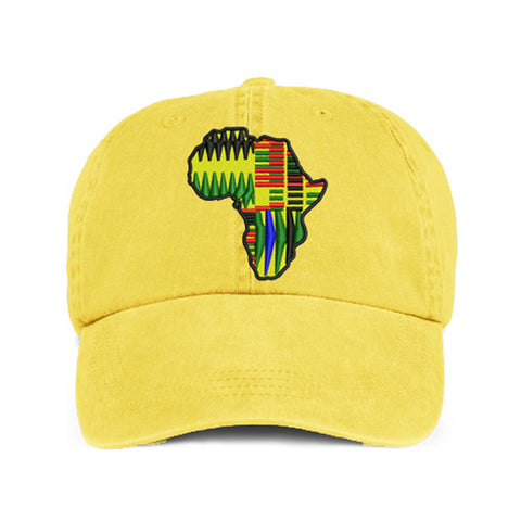Historically Black | Kente Continent | Ball Cap - Lemon