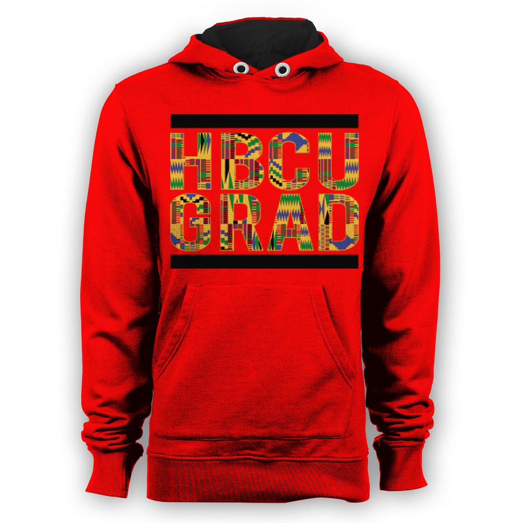 HBCU Grad | Kente Cloth 2 | Hoodie - Red