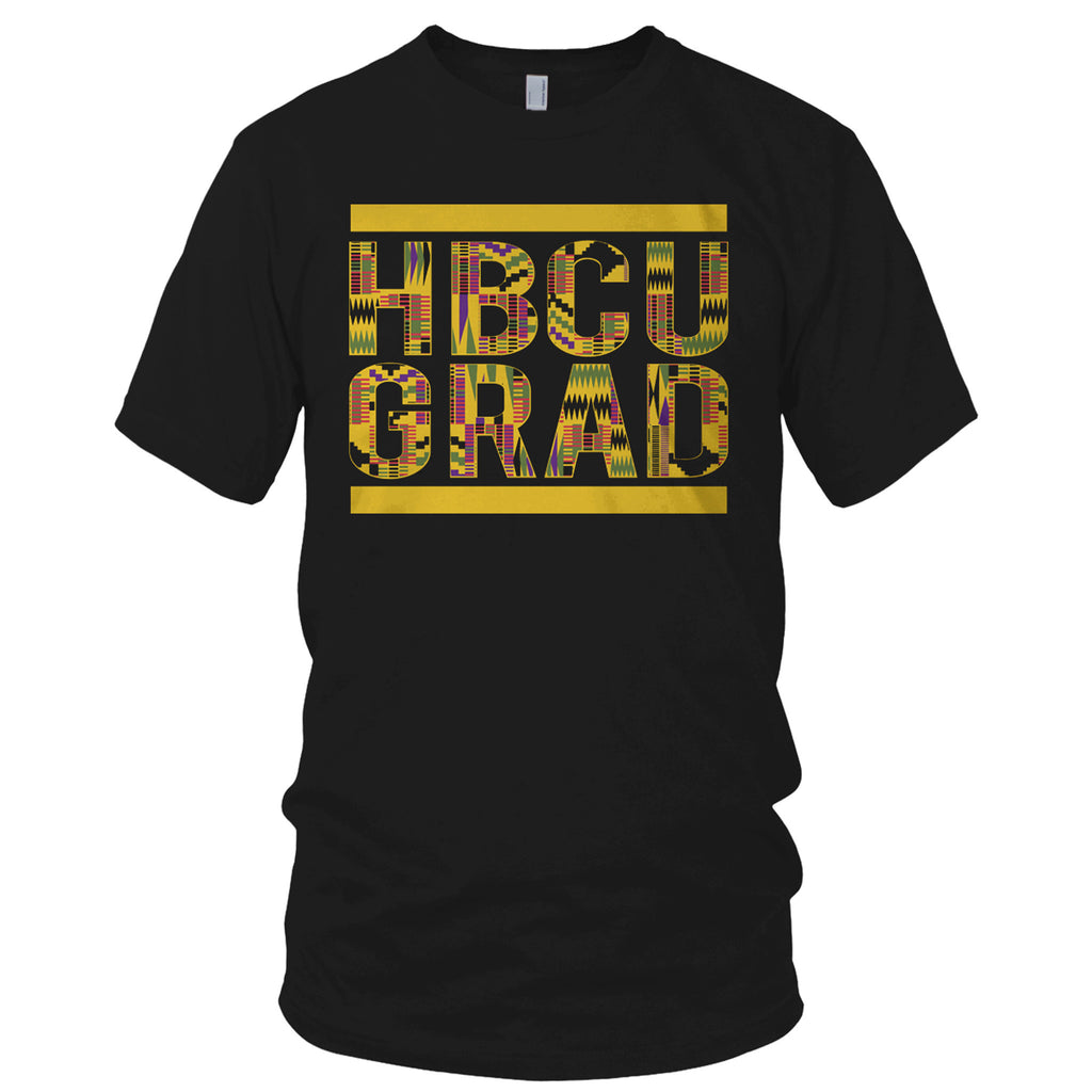 HBCU GRAD | Kente Cloth | Tshirt - Black