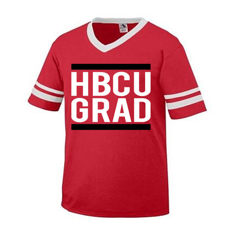 HBCU GRAD | Classic Red | Soccer Tee - Red/White