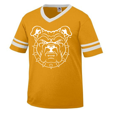 HBCU | Mascot Head | Soccer Tee - Gold/White