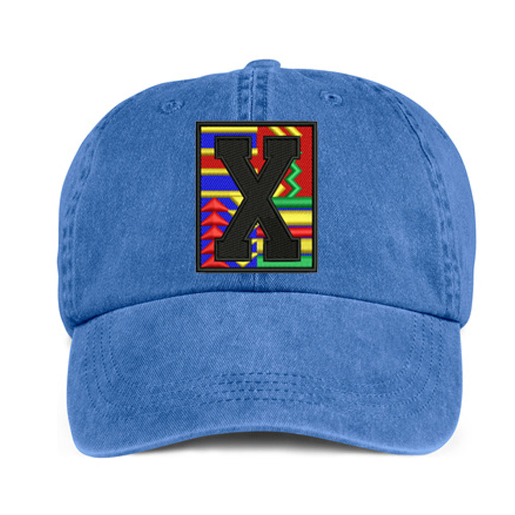 Historically Black | X Print | Ball Cap - Denim