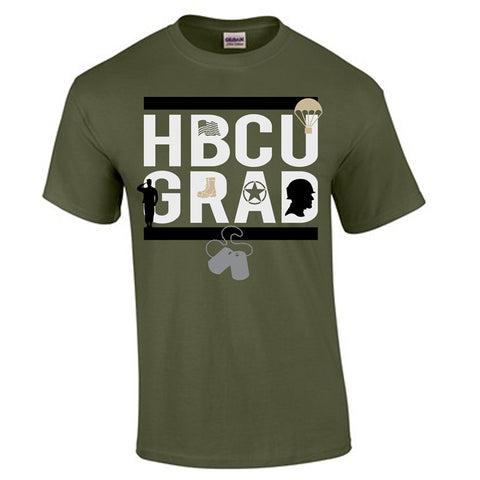 HBCU GRAD | Army Inspired | Tshirt - Military Green