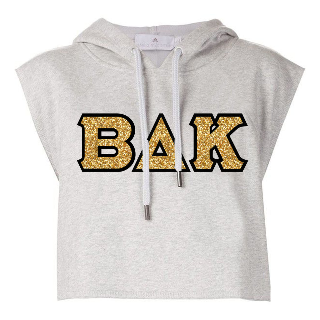 Urban Argyle | BΔK | Crop/Sleeveless Hoodie - Sports Gray